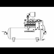 Powerex 7.5 HP Rotary Vane Vacuum System, 47 SCFM @ 19