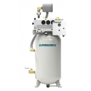 Powerex 3 HP Industrial Rotary Vane Vacuum Package 80 Gallon Tank | IVS0303