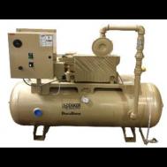 2 HP Lubricated Rotary Vane Vacuum System | 28 ACFM | 60 Gallon Tank | RML031T1-00-BS