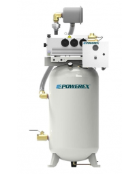 Powerex 1.5 HP Industrial Rotary Vane Vacuum | 60 Gallon Tank | IVS1502