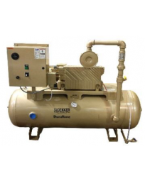 1.25 HP Lubricated Rotary Vane Vacuum System | 19 ACFM | 60 Gallon Tank | RML020T1-00-BS